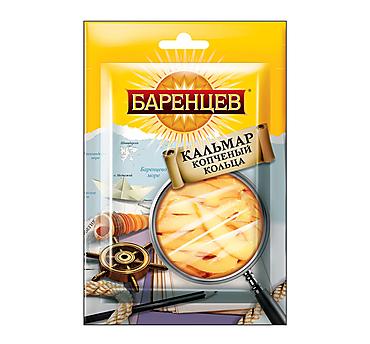 «Баренцев», кальмар, подкопчённые кольца, 18г