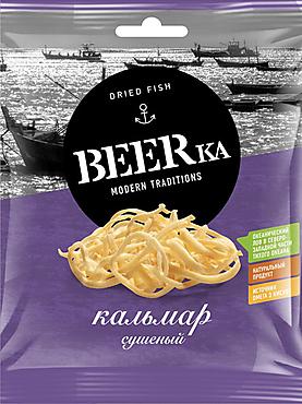 «Beerka», кальмар сушёно-вяленый, 18г