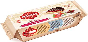 «Яшкино», печенье «Клубника», сдобное, 137г