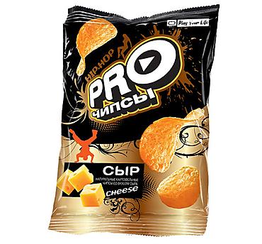 «PRO-Чипсы», чипсы со вкусом сыра, произведены из свежего картофеля, 60г