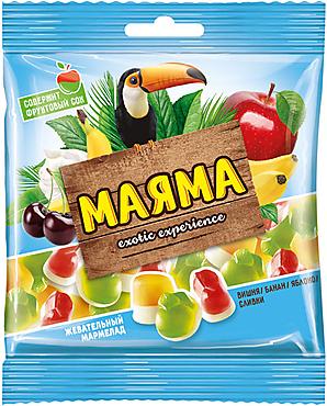 «Маяма», мармелад жевательный со вкусами банана, яблока, вишни со сливками, 170г