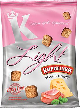 «Кириешки Light», сухарики со вкусом ветчины с сыром, 80г