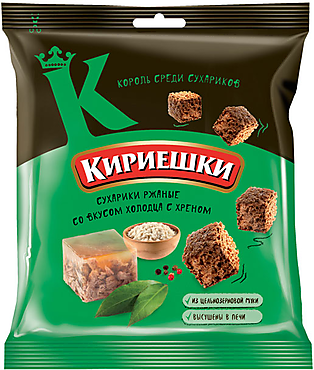 «Кириешки», сухарики со вкусом холодца с хреном, 40г