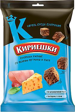 «Кириешки», сухарики со вкусом ветчины и сыра, 100г