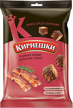 «Кириешки», сухарики со вкусом бекона, 100г