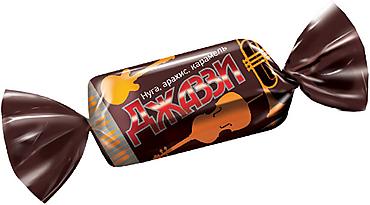 Конфета «Джаззи» нуга, карамель и арахис (упаковка 1кг)