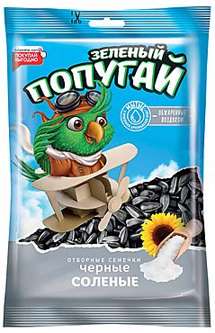 «Зелёный попугай», семечки отборные, черные, солёные, высший сорт, 100г