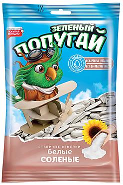 «Зелёный попугай», семечки жареные, белые, 100г
