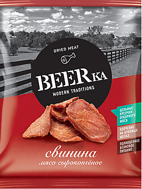 «Beerka», мясной снек сырокопчёный, 40г