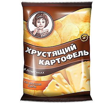 «Хрустящий картофель», чипсы со вкусом сыра, произведены из свежего картофеля, 40г