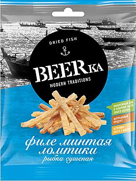 «Beerka», минтая сушёно-вяленый, 70г