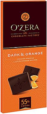 «OZera», шоколад горький с апельсиновым маслом Dark&Orange, 90г