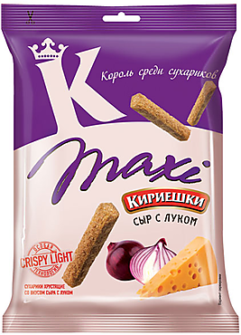 «Кириешки Maxi», сухарики со вкусом сыра и лука, 60г