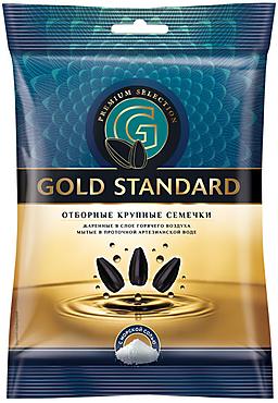 «Gold Standart», семечки крупные, жареные, солёные, 100г