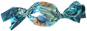 «Ореховичи», конфета «Орех Сергеевич Грецкий» в молочной шоколадной глазури