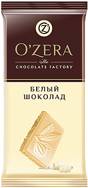 «OZera», шоколад белый, 90г