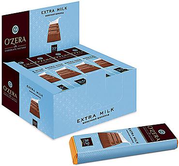 «OZera», шоколадный батончик Extra milk, 42г