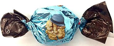 «Ореховичи», конфета «Орех Сергеевич Грецкий» в шоколадной глазури