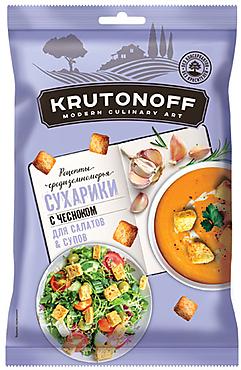 «Крутоноф», сухарики с чесноком для салатов и супов, 100г