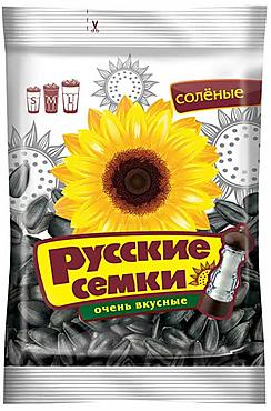 «Русские семечки», семечки отборные соленые, высший сорт, 100г