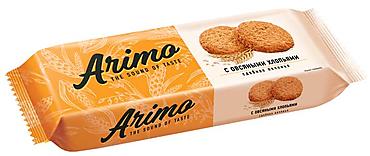«Arimo», печенье с овсяными хлопьями, сдобное, 180г