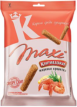 «Кириешки Maxi», сухарики со вкусом жареных креветок, 60г