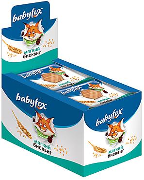 «BabyFox», мягкий бисквит с натуральным составом, 25г