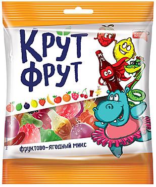 «КрутФрут», мармелад жевательный в форме ягод и фруктов, 70г