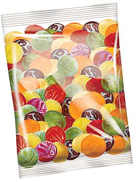 Мармелад жевательный со вкусом лимона, апельсина, черной смородины, вишни, клубники, яблока и манго (упаковка 1кг)