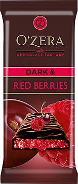 «OZera», шоколад горький  Dark & Red berries, 90 г