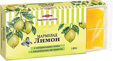 «Озёрский сувенир», мармелад «Лимон», желейный, в виде кубиков, 180г