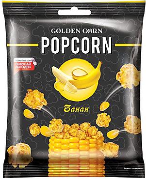 «Golden Corn», попкорн карамельный со вкусом банана, 50г