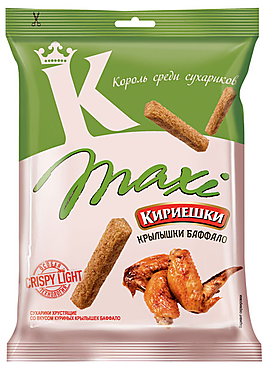 «Кириешки Maxi», сухарики со вкусом крылышек Баффало, 60г