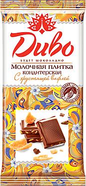 «Диво», плитка кондитерская молочная с хрустящей вафлей, 90г