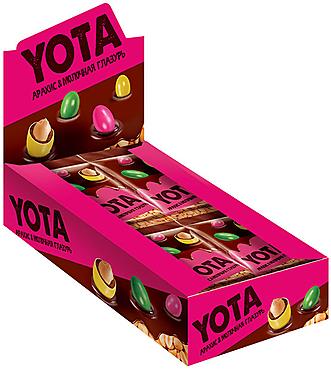 «Yota», драже арахис в молочно-шоколадной и сахарной глазури, 40г