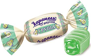 Карамель со вкусом «Груша» (упаковка 1кг)