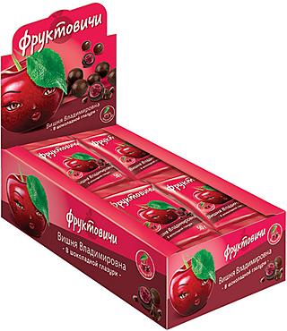 «Фруктовичи», драже «Вишня Владимировна» в шоколадной глазури, 50г