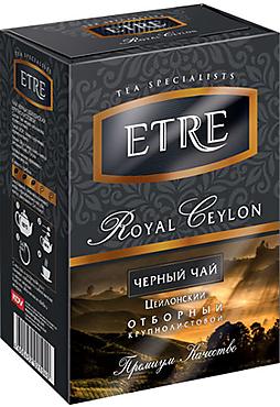 «ETRE», «Royal Ceylon» чай черный цейлонский крупнолистовой, 100г