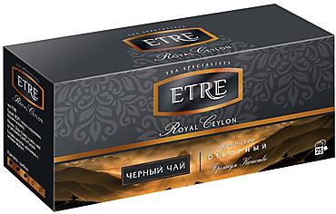 «ETRE», «Royal Ceylon» чай черный цейлонский, 25 пакетиков, 50г