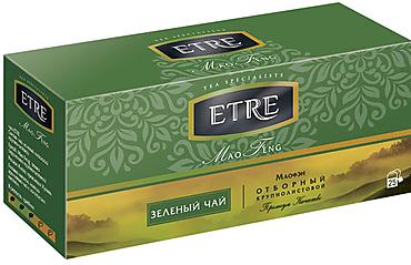 «ETRE», «Mao Feng» чай зеленый, 25 пакетиков, 50г