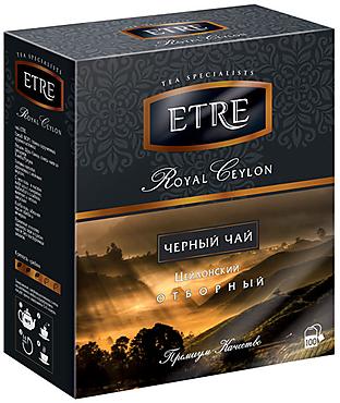 «ETRE», «Royal Ceylon» чай черный цейлонский, 100 пакетиков, 200г