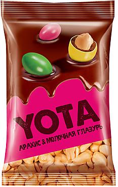 «Yota», арахис в молочно-шоколадной и цветной глазури, 150г