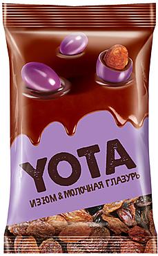 «Yota», изюм в молочно-шоколадной и цветной глазури, 150г
