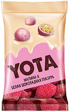 «Yota», драже в белой шоколадной глазури с малиной, 120г