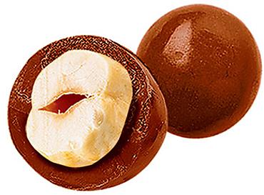 Драже фундук в молочно-шоколадной глазури (коробка 1,5кг)