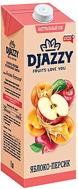 «Djazzy», сок яблочно-персиковый, с мякотью
