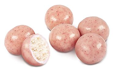 Драже хрустящий шарик в малиновой глазури (коробка 1кг)