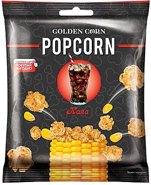«Golden Corn», попкорн карамельный со вкусом колы, 50г