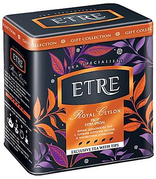 «ETRE», «Royal Ceylon» чай черный цейлонский в жестяной банке, 100г
