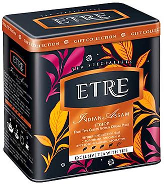 «ETRE», «Indian  Assam», чай черный индийский в жестяной банке, 100г